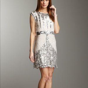 BCBG Maxazria Woven Sequin Sparkly Dress S